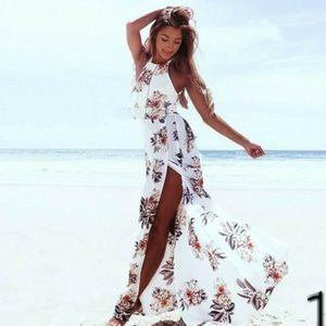 🌹Floral Maxi backless Maxi dress M🌹